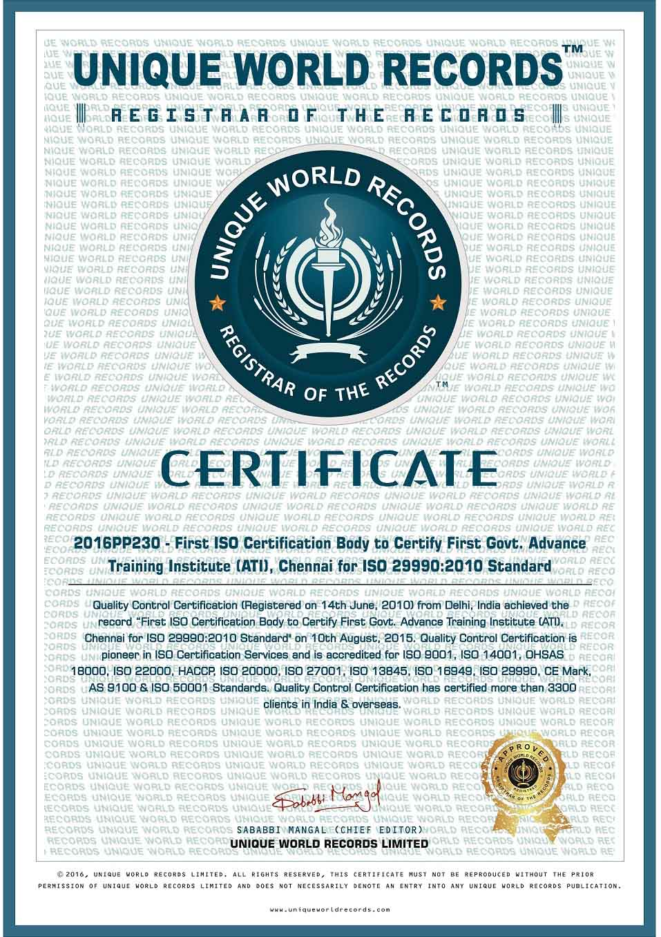 Iso Certification Iso 9001 Qc Certification