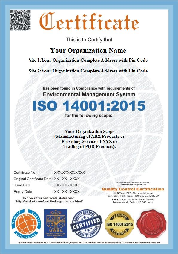 ISO 14001:2015   ISO 14001 Certification - QC Certification
